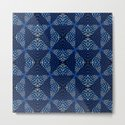 Indigo Blues Geometric Magic Quilt Print by carlieamberpartridge