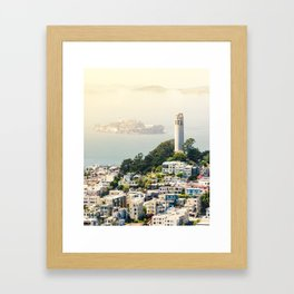 San Francisco View of Coit Tower Framed Art Print
