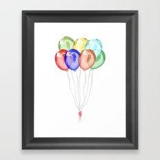 Baloons Framed Art Print