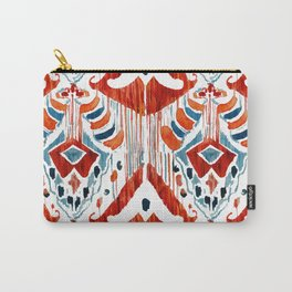 red bali ikat Carry-All Pouch