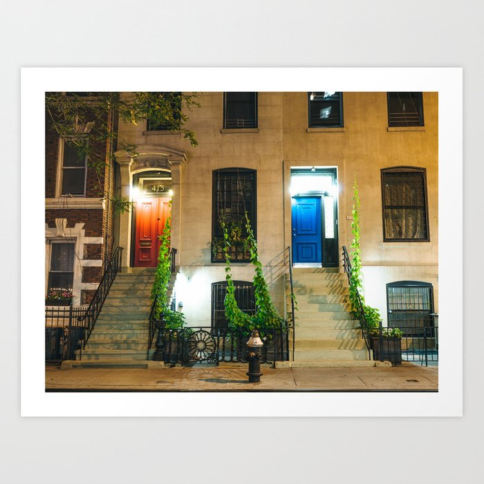New York City - Night Art Print
