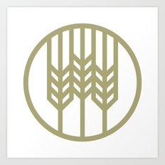 Wheat Circle Graphic Art Print
