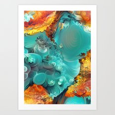 Mineral Series - Rosasite Art Print