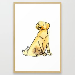Latte - Dog Watercolour Framed Art Print