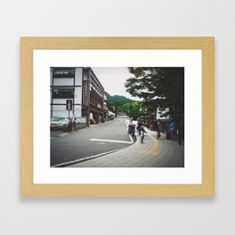 Somewhere's Street Framed Art Print