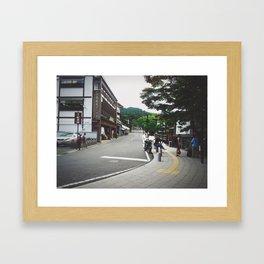 Somewhere's Street Framed Art Print