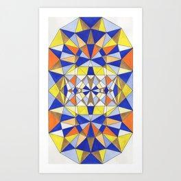geometry art Art Print