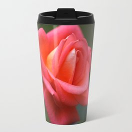Red rose on a dark background Travel Mug