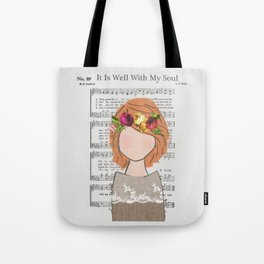 It Is Well - Redhead Tote Bag