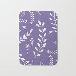 Ultra Violet Leaves Pattern #2 #drawing #decor #art #society6 Bath Mat