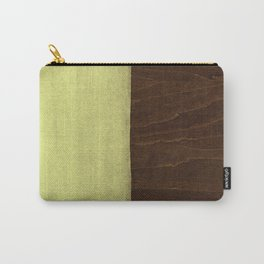 Yellow Paint on Wood Carry-All Pouch