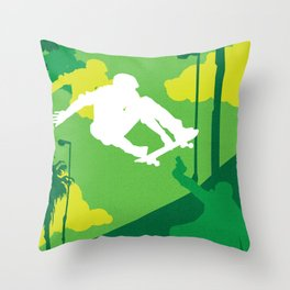 80s TEEN MOVIES :: GLEAMING THE CUBE Throw Pillow