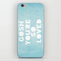 Gosh (Loved) Blue  iPhone & iPod Skin