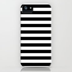 Modern Black White Stripes Monochrome Pattern iPhone (5, 5s) Slim Case