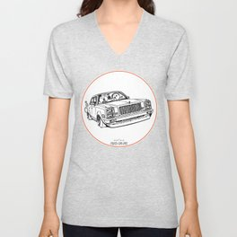 Crazy Car Art 0203 Unisex V-Neck