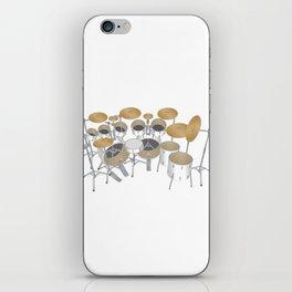 White Drum Kit iPhone Skin