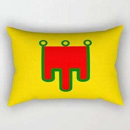 Auvergne flag france country region Rectangular Pillow