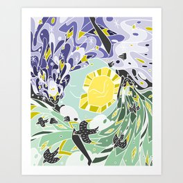 Sun & Moon Child Art Print