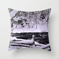 finland Throw Pillows featuring Winter in Finland by Guna Andersone & Mario Raats - G&M Studi