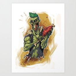 Yummy Zombie Art Print
