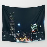 portland Wall Tapestries featuring Portland Oregon  by K Creative