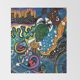 Spaced Out Throw Blanket