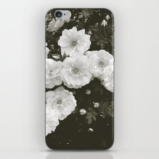 Floral in Black and White iPhone Skin