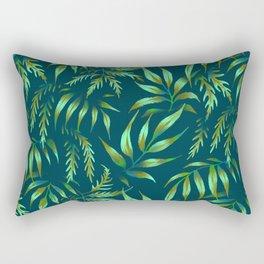 Brooklyn Forest - Green Rectangular Pillow