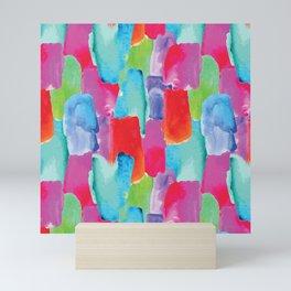 Watercolor stains Mini Art Print