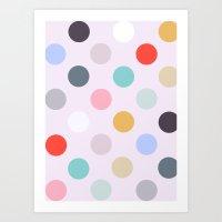 polka dots Art Prints featuring Polka Dots by Color & Theory