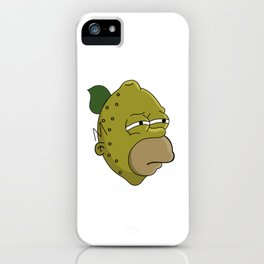 Homer Lemonhead iPhone Case