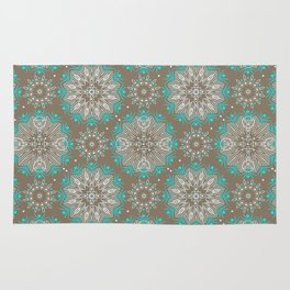 Brown turquoise bling . Rug