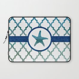 Starfish: Tropical Water Moroccan Pattern Laptop Sleeve