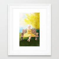 helen green Framed Art Prints featuring Helen by Sara Pace