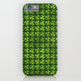 Irish Shamrock -Clover Green Glitter pattern iPhone Case
