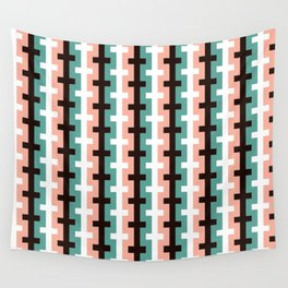 Geometric Pattern #187 (pink olive) Wall Tapestry