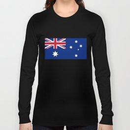 Australian flag, HQ image Long Sleeve T-shirt