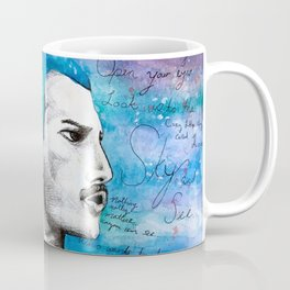 Queen F. Mercury Watercolor Portrait Coffee Mug
