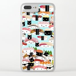 I REALLY LOVE SUSHI Clear iPhone Case