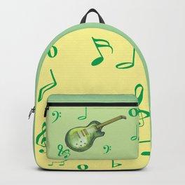 music, instrument, guitare, green, drawing, bebicervin Backpack