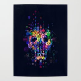 Monstrously colorful elementary particles Poster