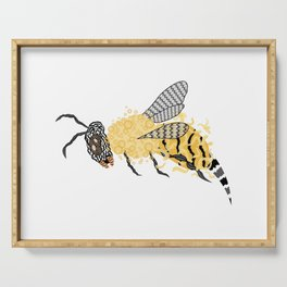 Abstract Bee Serving Tray