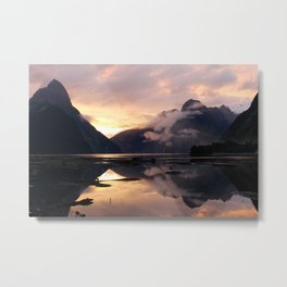 Milford Sound Sunset Metal Print