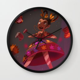 Mexican Alicia in Wonderlandia Wall Clock