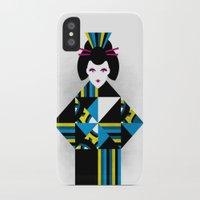 geisha iPhone & iPod Cases featuring GEISHA by Oscar Odd Diodoro