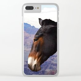 Grand Canyon Mule Clear iPhone Case