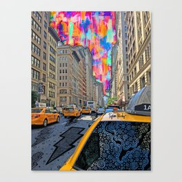 Doodle town NYC Canvas Print