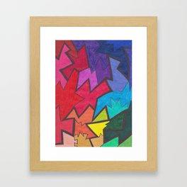 Ziggity Zag Framed Art Print