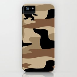Desert Camo Weiner Dogg iPhone Case