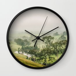 Mist Valley Wall Clock